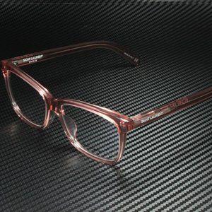 Saint Laurent Unisex Light Brown Purple Eyeglasses